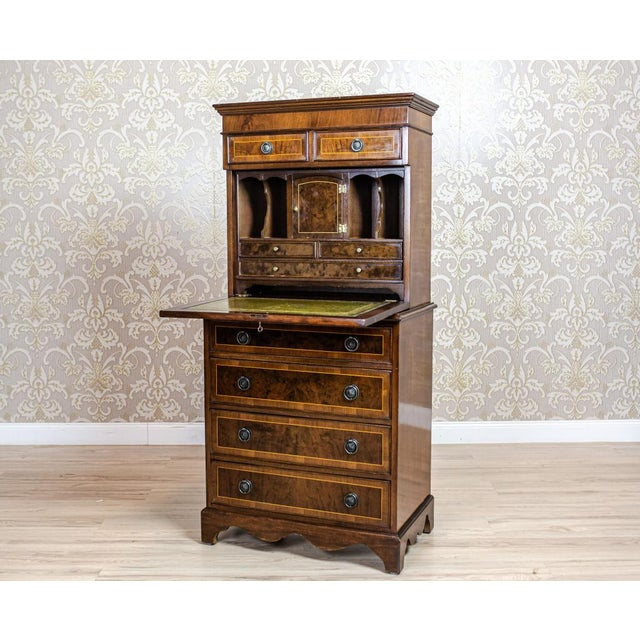 We present you a subtle 19-th century secretary desk with four drawers at the bottom, two smaller ones in the upper...
