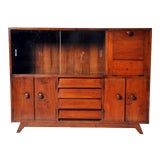 Image of British Colonial Teakwood and Bar Cabinet For Sale