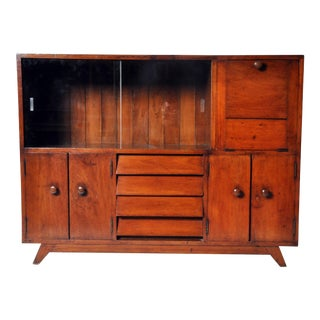 British Colonial Teakwood and Bar Cabinet For Sale