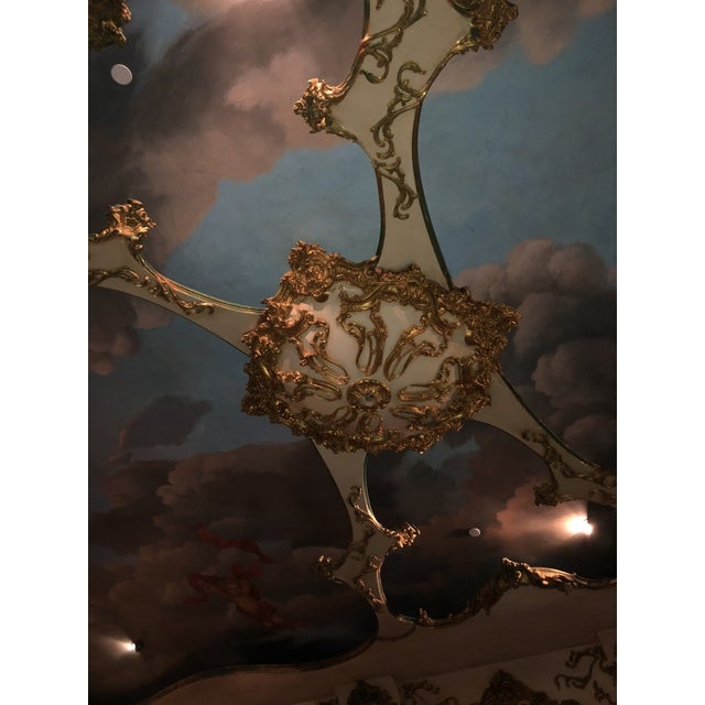 Modern Mohammad Hadid Estate Gold Leaf Ceiling Medallion For Sale - Image 11 of 13