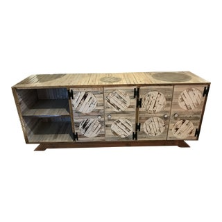 Lunar Industry Rustic Handmade Reclaimed Wood Server For Sale