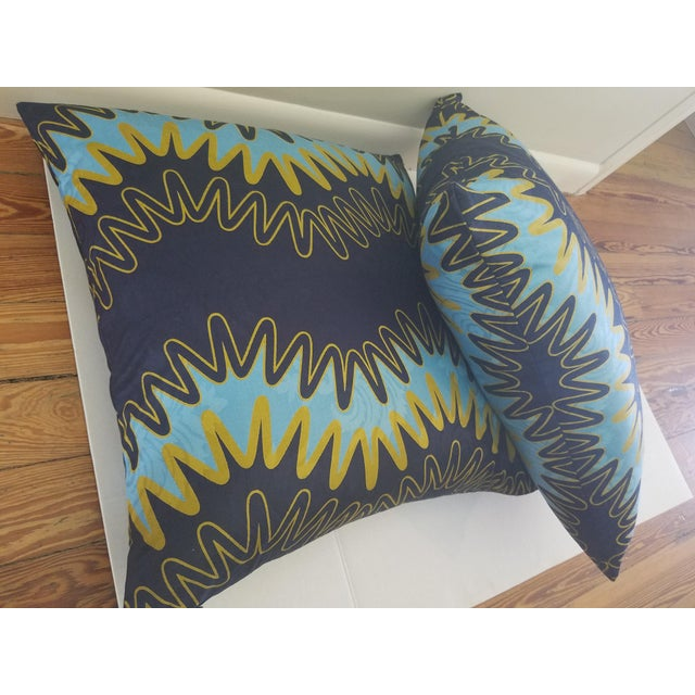 "Abstract Modern ""Lightening"" Custom Pillows - a Pair For Sale - Image 3 of 4"
