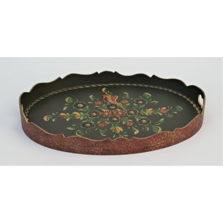 Vintage Dutch Folk Art Hand-Painted Tray Preview