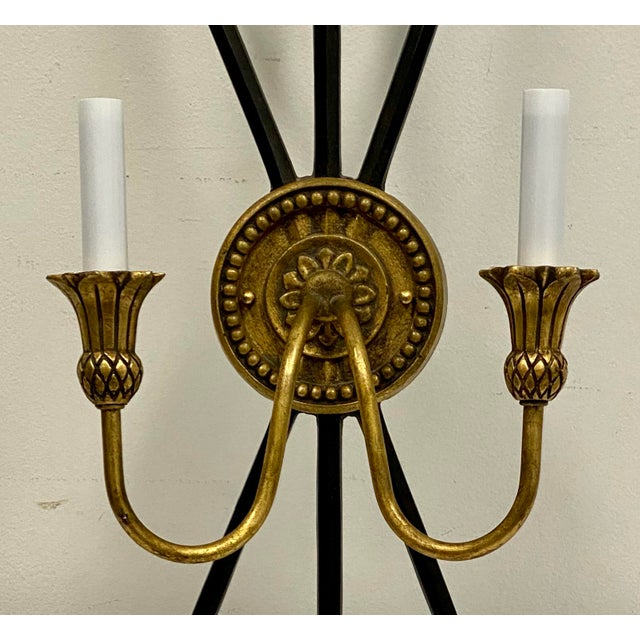 Vintage Neo-Classical Style Arrow Sconces - a Pair For Sale - Image 4 of 8