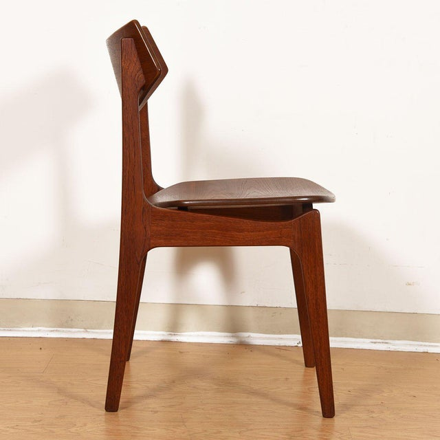 Wood Danish Teak Curved Back Dining Chairs - Set of 4 For Sale - Image 7 of 13