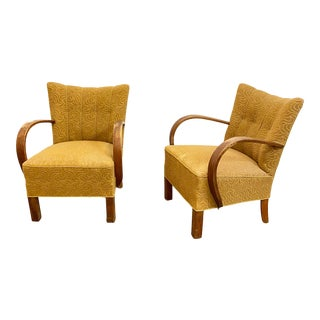1940s Vintage Danish Modern Arm Chairs - a Pair For Sale