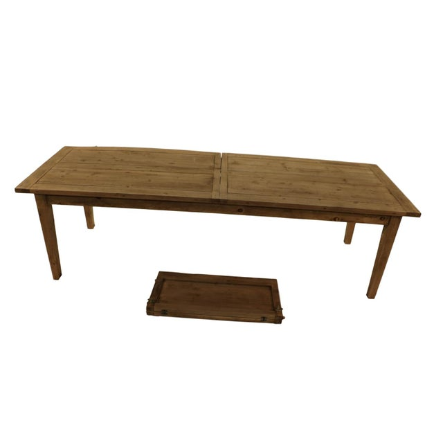 Parsons Rectangular Reclaimed Old Wood Dining Table - Image 6 of 10