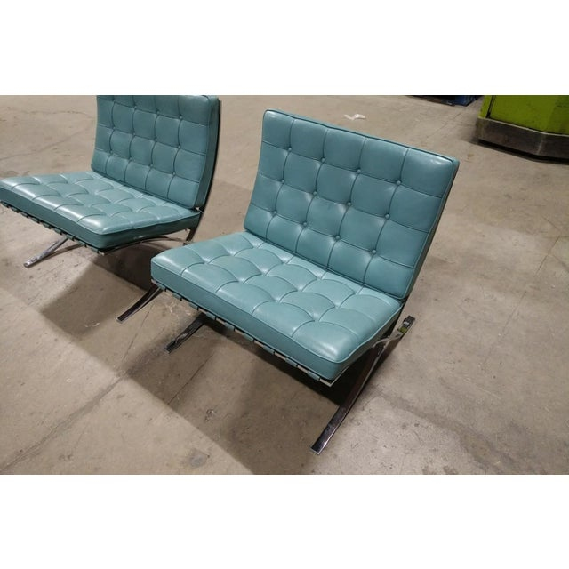 Mid-Century Modern Barcelona Lounge Chairs - a Pair For Sale - Image 3 of 7