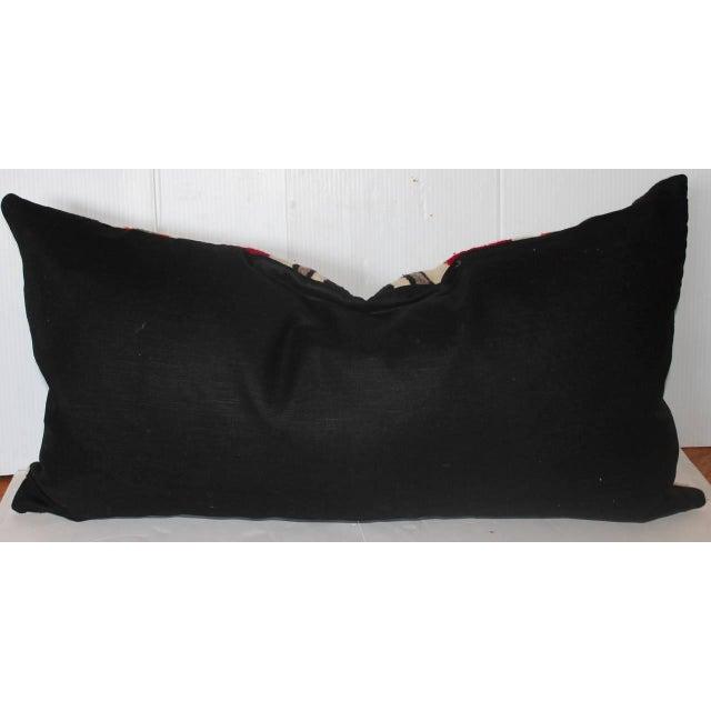 Navajo Geometric Navajo Indian Weaving Bolster Pillow For Sale - Image 3 of 3