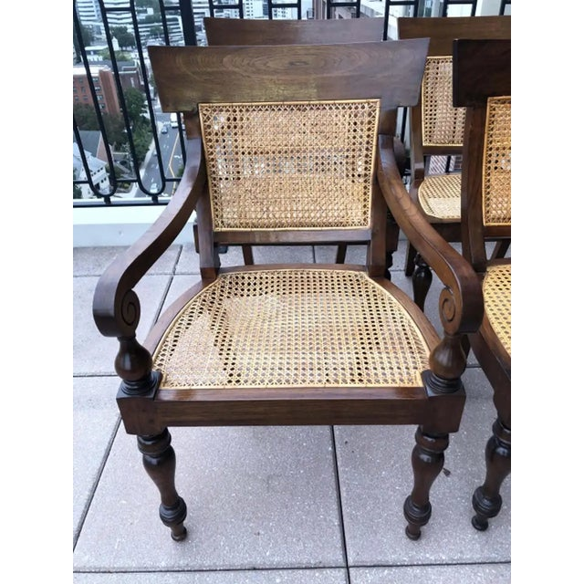 Late 20th Century Set of Eight Anglo-Indian Rosewood Regency Dining Chairs For Sale - Image 5 of 8