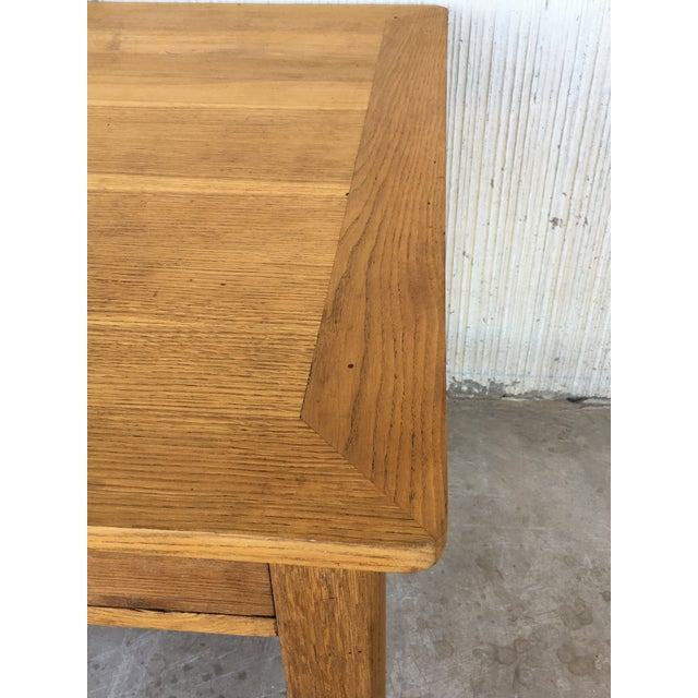Mid Century Modern Pine Desk With Two Drawers For Sale - Image 11 of 13