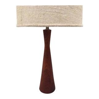 Danish Modern Walnut Lamp For Sale