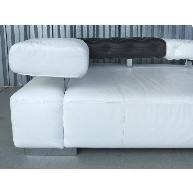 """""""Sunrise Two"""" Leather Bruehl of Germany Daybed For Sale - Image 10 of 11"""