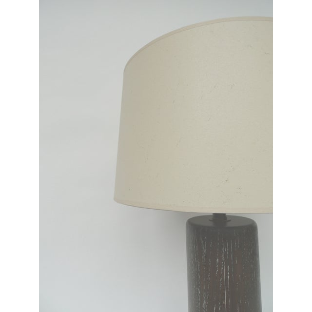Nessen Studios Brown Cerused Oak Lamps - A Pair - Image 9 of 10