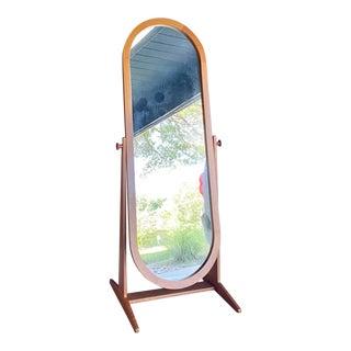 Pedersen & Hansen Teak Floor Mirror (Denmark) For Sale