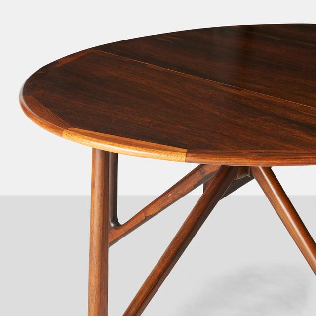 1960s Kurt Ostervig Rosewood Dining Table For Sale - Image 5 of 6
