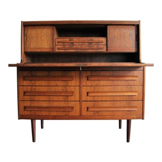 Mid-Century Modern Danish Mobelfabrik Rosewood Secretary Desk