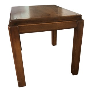 Mid Century Architectural 1970s Lane Altavista Glass Top Side End Table For Sale