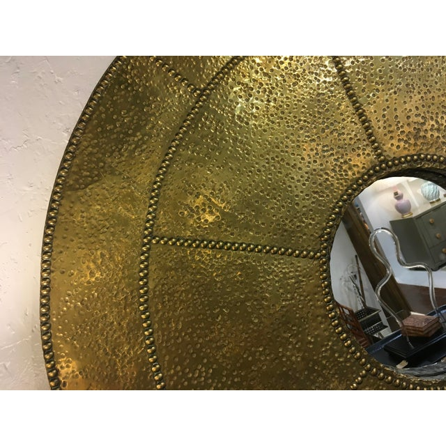 Sarreid Hammered Brass Mirror For Sale - Image 9 of 10