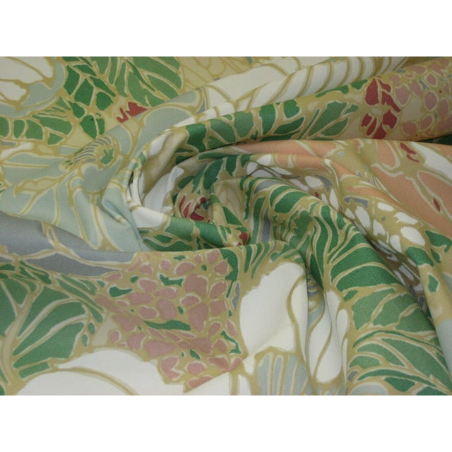 Late 20th Century Vintage Floral Sunbrella Indoor/Outdoor Upholstery Fabric- 4 Yards For Sale - Image 5 of 6