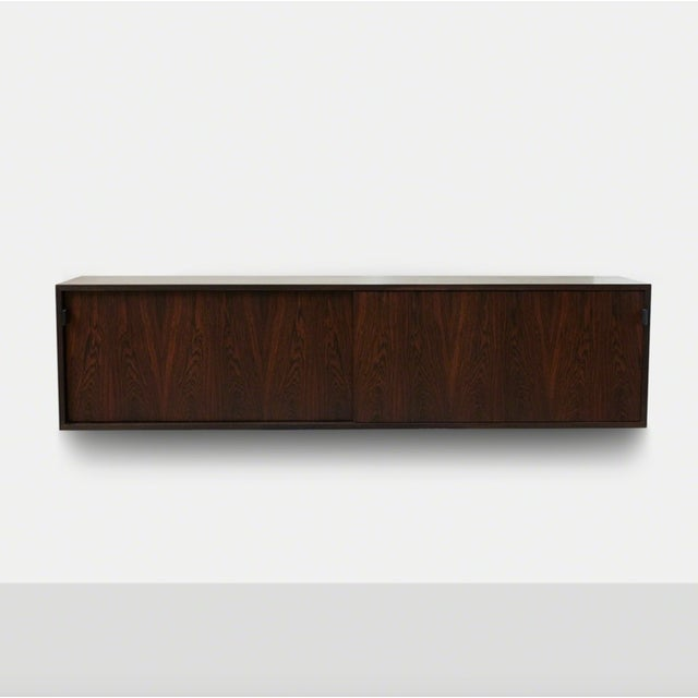 Knoll Florence Knoll Floating Rosewood Credenza For Sale - Image 4 of 8