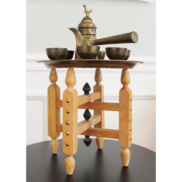 Vintage Brass Turkish Coffee Set - Image 2 of 5