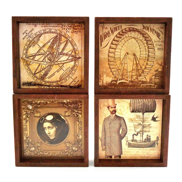 Metal Steampunk Drink Coasters - Set of 12 For Sale - Image 7 of 10