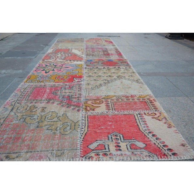 Tribal Floor Patchwork Runner Rug - 2′11″ × 9′4″ For Sale - Image 4 of 6