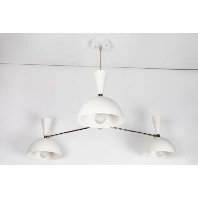 White Modern Three-Cone 'Lola Ii' Chandelier For Sale - Image 8 of 13