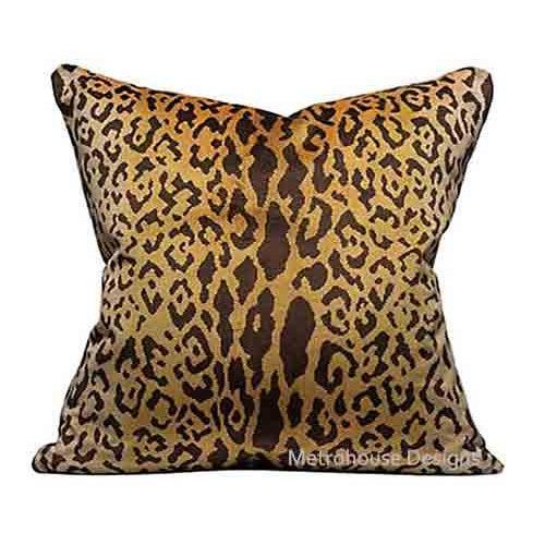 Primitive Authentic Scalamandre Leopardo Silk Velvet Pillow For Sale - Image 3 of 4