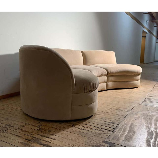 Late 20th Century Vintage Sectional Cloud Sofa attributed to Vladimir Kagan For Sale - Image 5 of 13