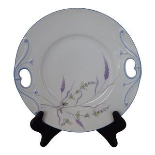 Elegant Floral Decorative Plate For Sale