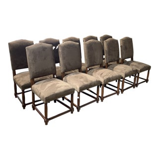 Restoration Hardware Dining Chair Made by Bernhardt - Set of 10 For Sale