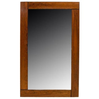 1960s Danish Modern Rosewood Mirror For Sale