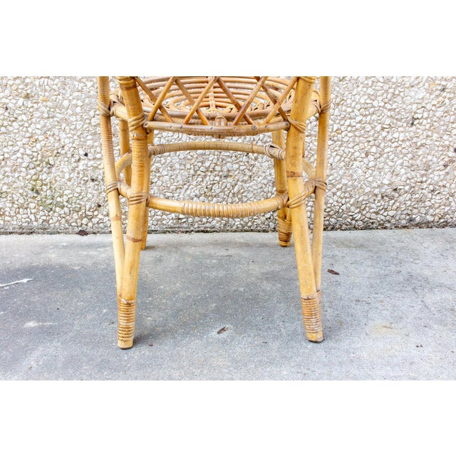 Vintage French Bamboo and Rattan Dining Chairs- Set of 8 For Sale - Image 11 of 13