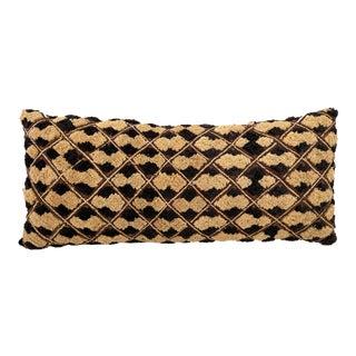 """African Lumbar Kuba Textile Pillow Congo 20.5""""w For Sale"""