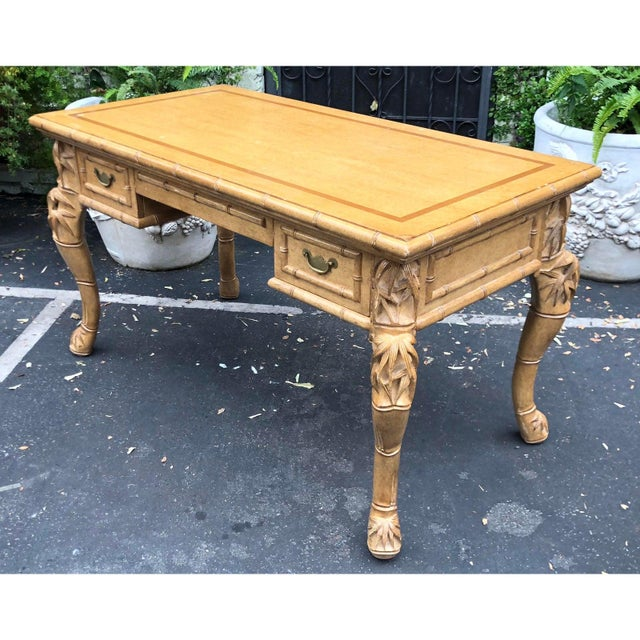 2010s Charles Pollock for William Switzer Chinese Chippendale Writing Table Desk For Sale - Image 5 of 5