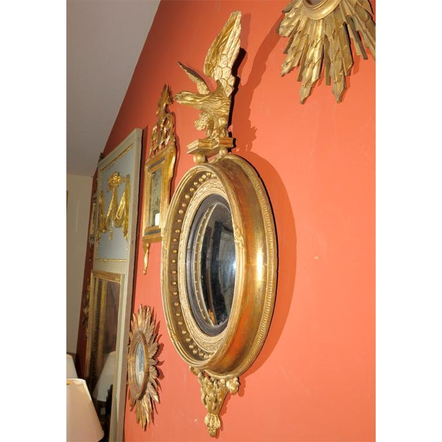 English Traditional Early 19th Century Regency Convex Mirror For Sale - Image 3 of 6