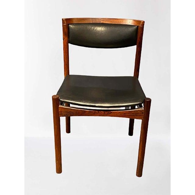 Six Mid-Century Modern Danish Dining Chairs, Soro Stolefabrik Denmark, Rosewood For Sale - Image 9 of 13