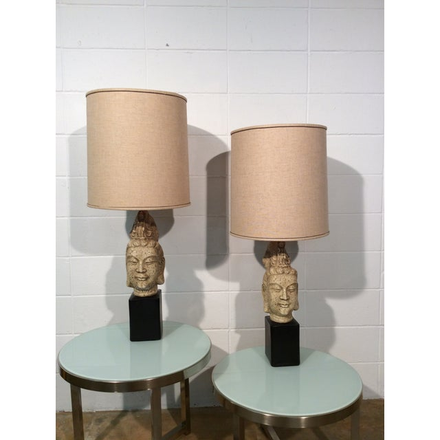 James Mont Buddha Lamps - A Pair - Image 2 of 11
