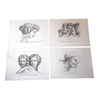 Antique Mid 1700's Copperplate Engravings-Raphael-Images for the Vatican-Set of 4-Elephant Folio For Sale