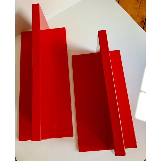 Vintage Kartell Plastic Shelves-a Pair For Sale In Providence - Image 6 of 12