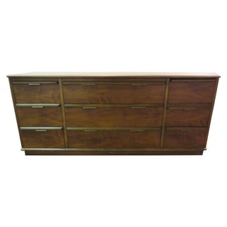 Mid Century Danish Modern Walnut Credenza by Lane
