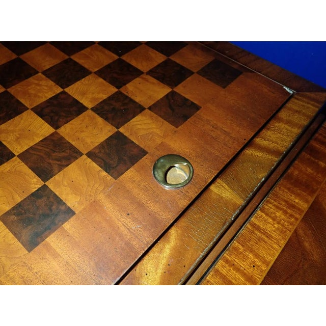 Brown 20th Century Federal Maitland Smith Reversible Inlaid Game Table For Sale - Image 8 of 11