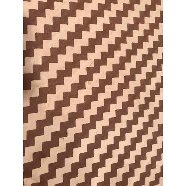 Madeline Weinrib Brown and White Chevron Area Rug - Image 3 of 4