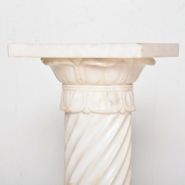Italian Antique Italian Pedestal Marble Table For Sale - Image 3 of 11