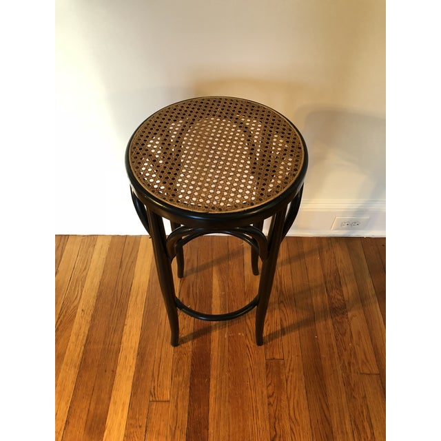 Talian Antique Bentwood and Cane Cafe Stool For Sale - Image 9 of 10