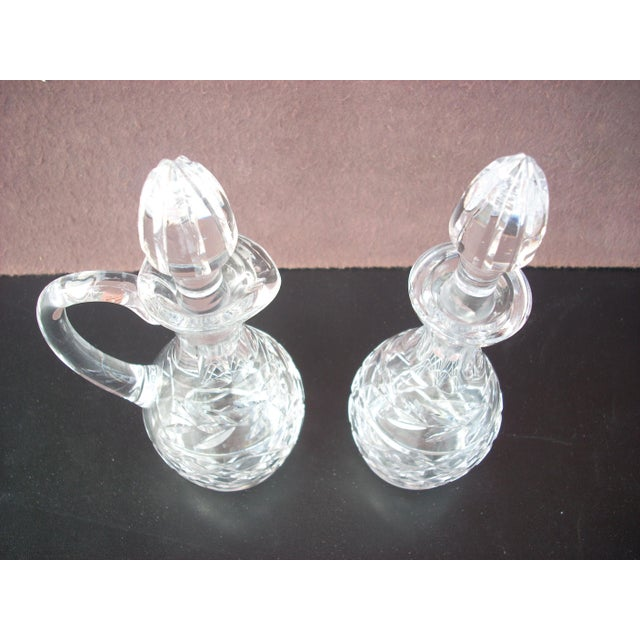 Waterford Clear Crystal Cruets - A Pair - Image 3 of 3