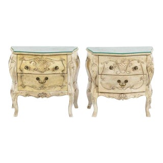Florentine Petite Bomba Commodes-a Pair For Sale