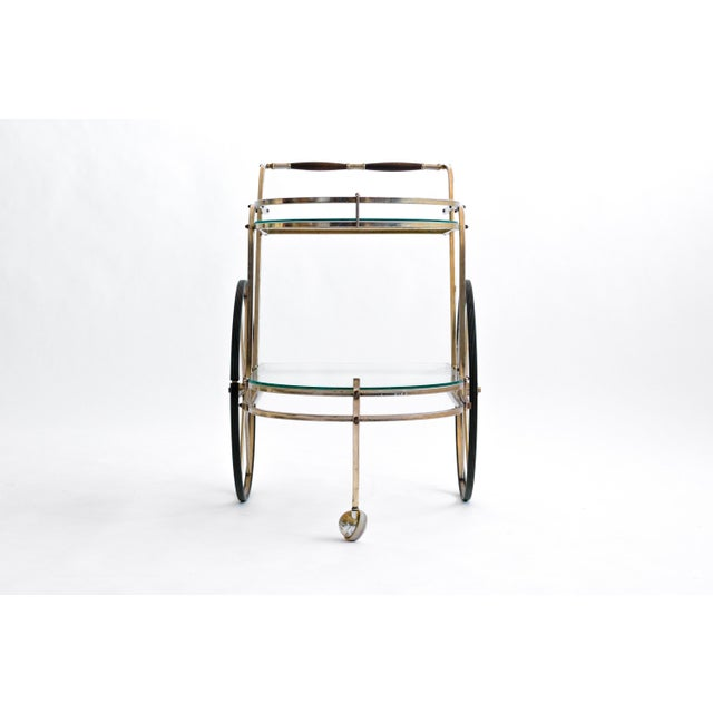 Italian Brass Bar Cart - Image 7 of 7